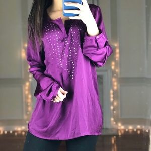 MEXX Long Sleeve Career Blouse with Puffy Sleeves